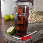 Carlisle 52243550G 24-oz Coca-Cola Stackable Tumbler - Plastic, Clear