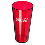 Carlisle 52243550H 24-oz Coca-Cola Stackable Tumbler - Plastic, Ruby