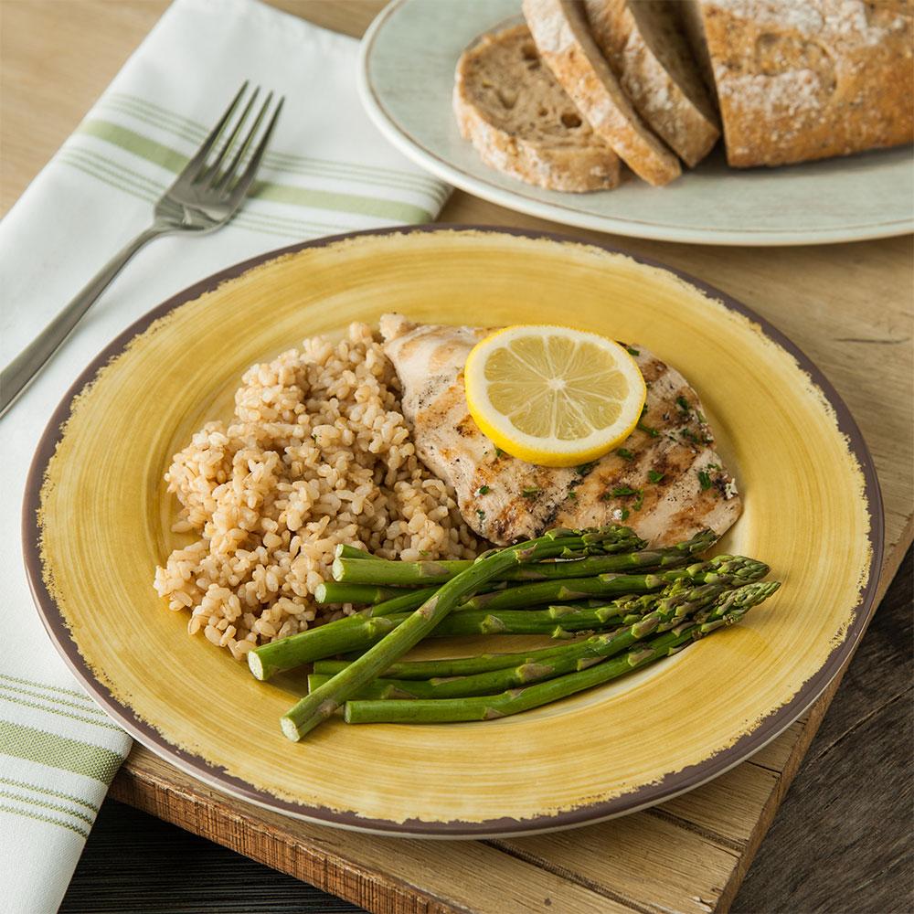 "Carlisle 5400113 11"" Round Dinner Plate - Melamine, Amber"