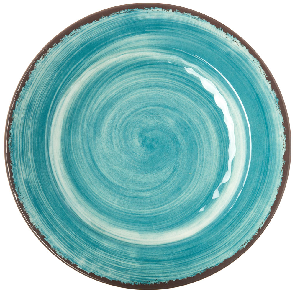 "Carlisle 5400115 11"" Mingle Dinner Plate - Melamine, Teal"