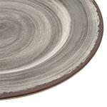 """Carlisle 5400118 11"""" Round Dinner Plate - Melamine, Smoke Gray"""