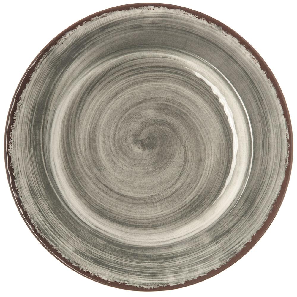 "Carlisle 5400118 11"" Mingle Dinner Plate - Melamine, Smoke Gray"