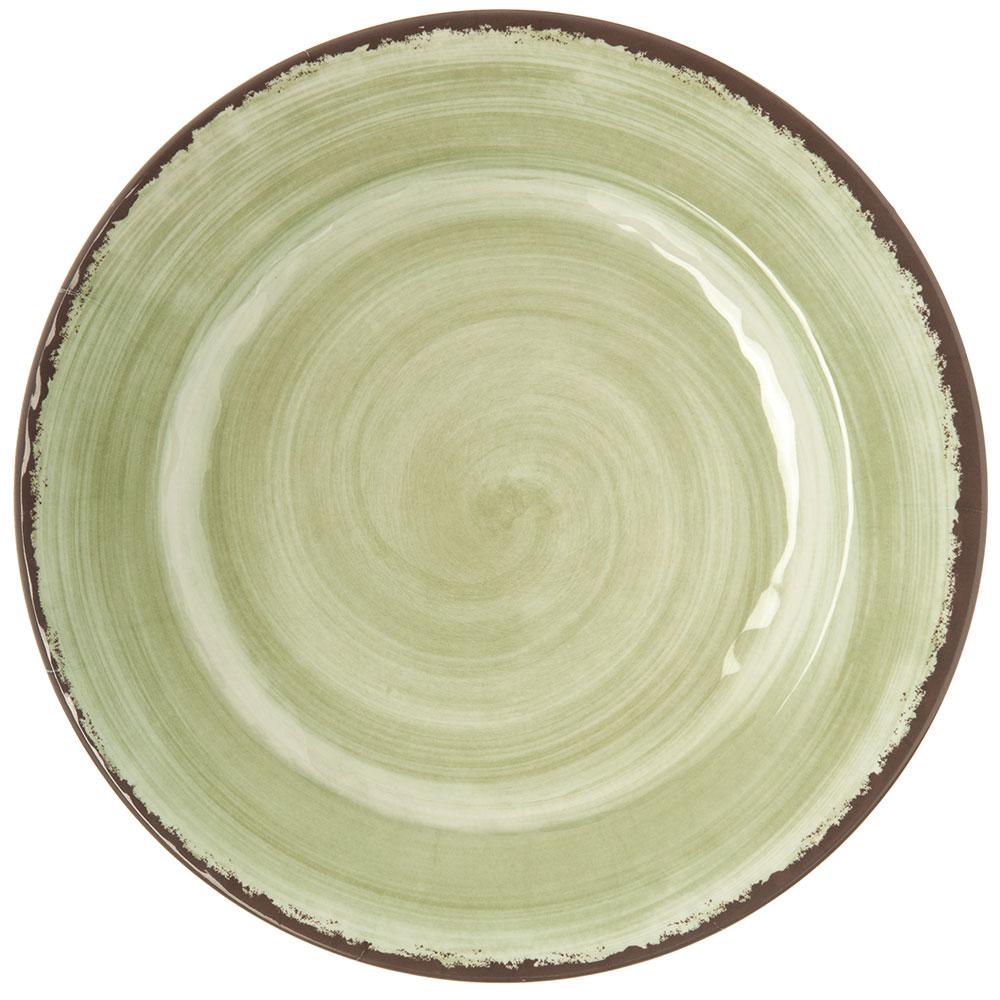 """Carlisle 5400146 11"""" Mingle Dinner Plate - Melamine, Jade"""