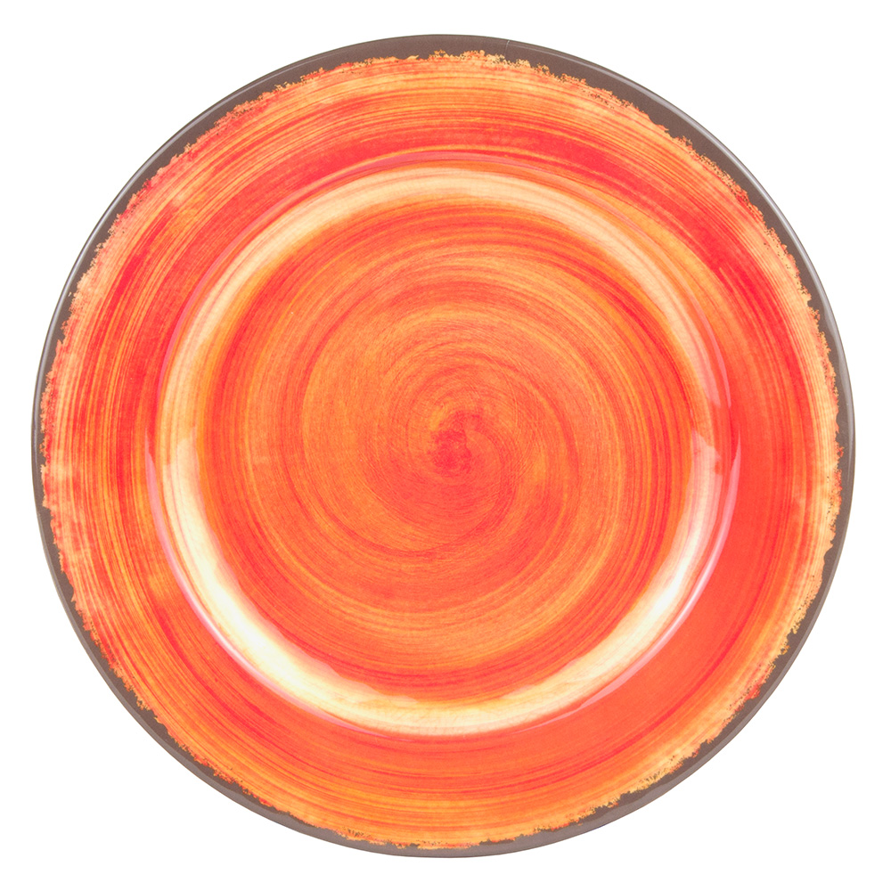 "Carlisle 5400152 11"" Mingle Dinner Plate - Melamine, Fireball"