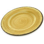"Carlisle 5400213 9"" Round Dinner Plate - Melamine, Amber"
