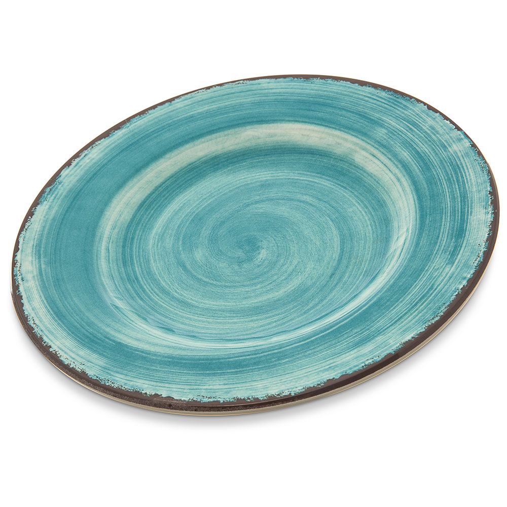 "Carlisle 5400215 9"" Round Dinner Plate - Melamine, Aqua"