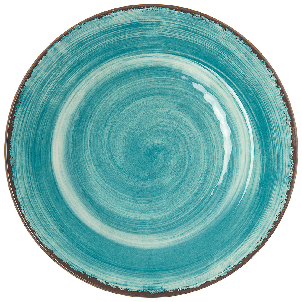 "Carlisle 5400215 9"" Mingle Salad Plate - Melamine, Teal"
