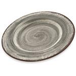 """Carlisle 5400218 9"""" Round Dinner Plate - Melamine, Smoke Gray"""