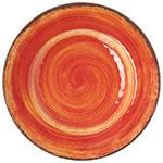 """Carlisle 5400252 9"""" Mingle Salad Plate - Melamine, Fireball"""