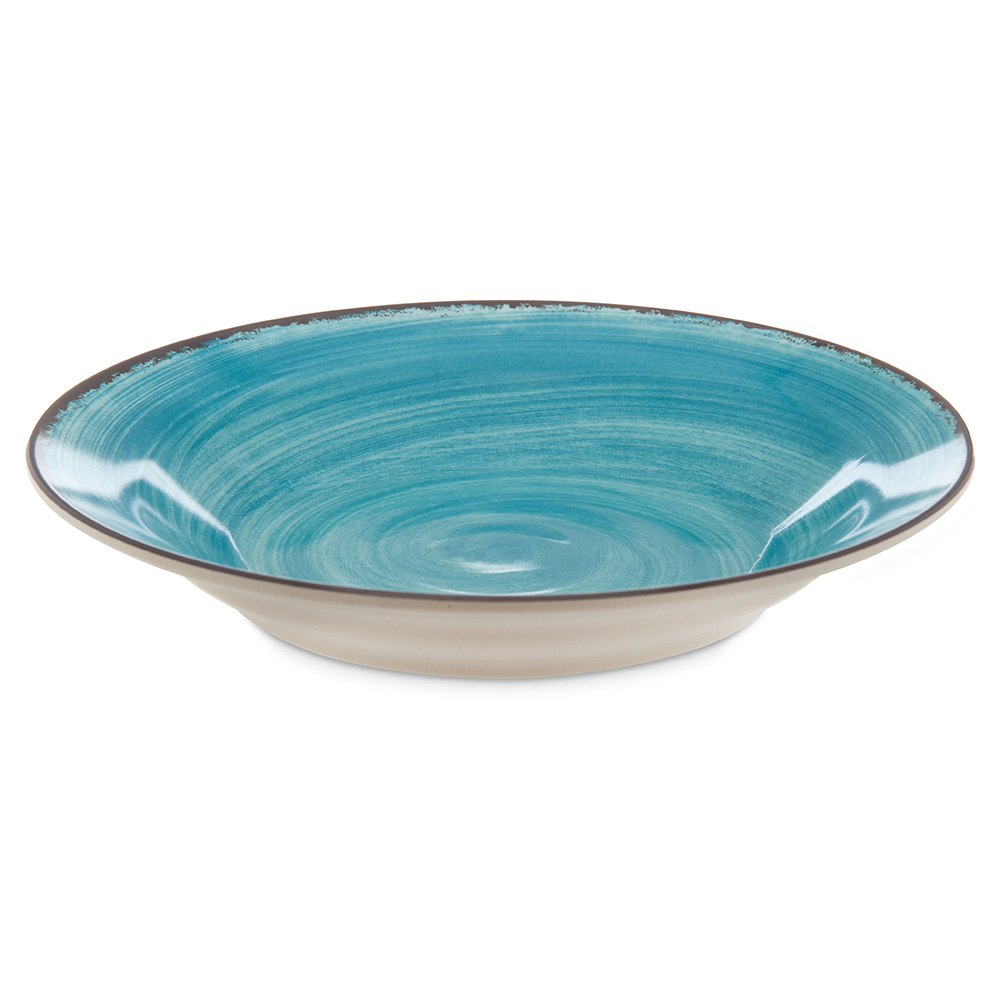 Carlisle 5400315 28.5-oz Mingle Soup Bowl - Melamine, Teal
