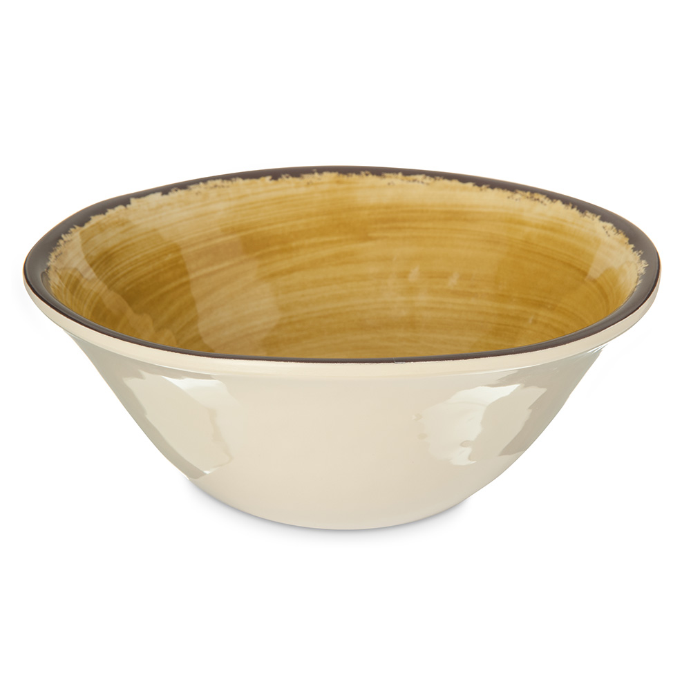 Carlisle 5400413 27-oz Mingle Ice Cream Bowl - Melamine, Amber