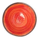 "Carlisle 5400452 7"" Round Ice Cream Bowl w/ 27-oz Capacity, Melamine, Fireball"