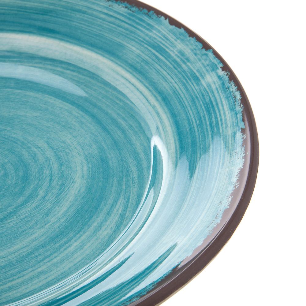 "Carlisle 5400615 12.5"" Round Charger Plate - Melamine, Aqua"