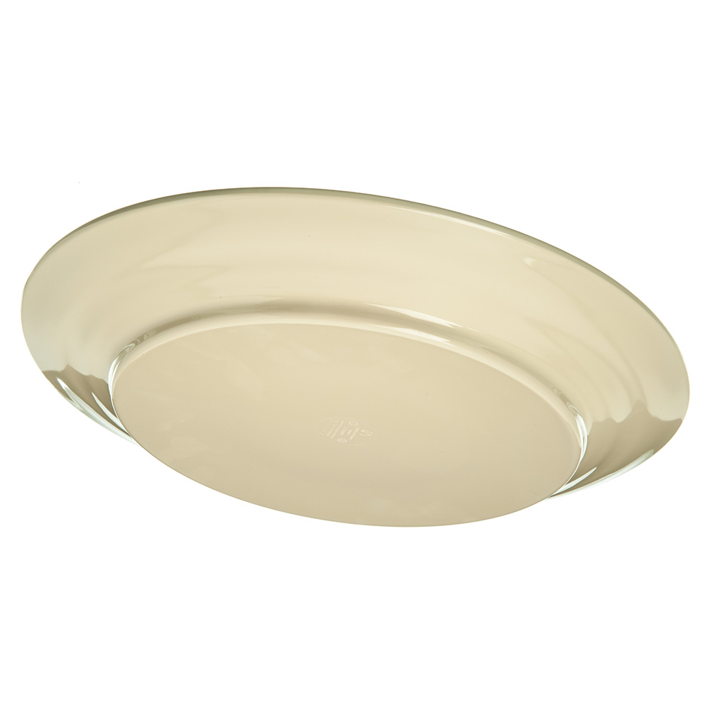 "Carlisle 5400652 12.5"" Round Charger Plate - Melamine, Fireball"