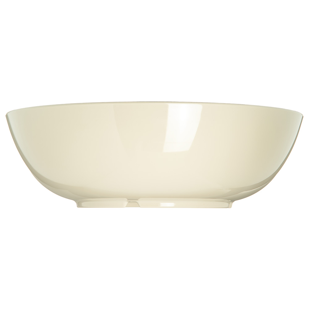 "Carlisle 5401313 12"" Round Serving Bowl w/ 4.8-qt Capacity, Melamine, Amber"