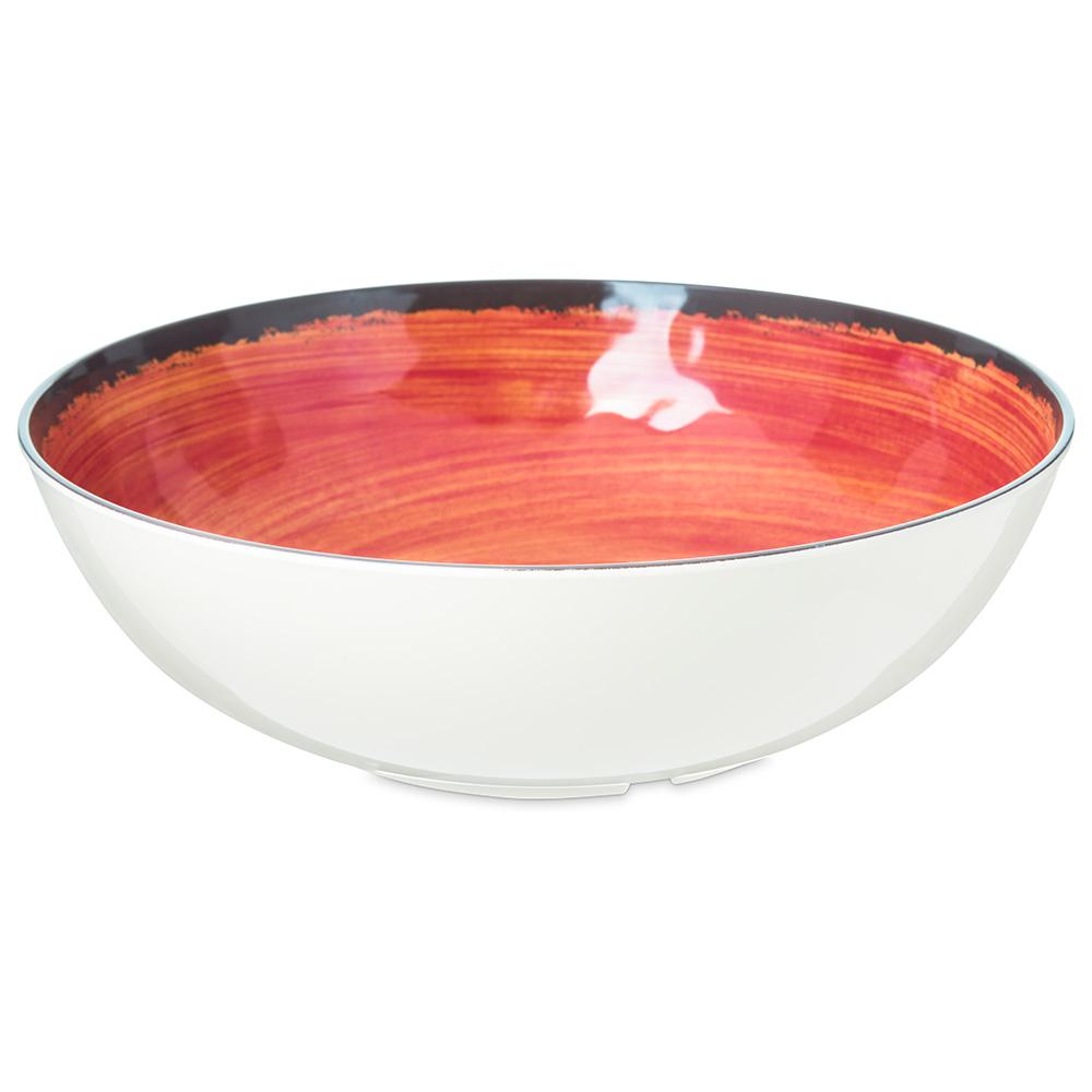 Carlisle 5401352 4.8-qt Mingle Serving Bowl - Melamine, Fireball