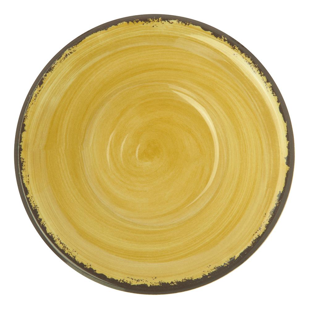 """Carlisle 5401813 5"""" Round Fruit Bowl w/ 4.5-oz Capacity, Melamine, Amber"""