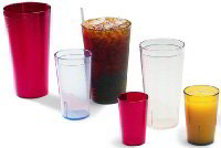 Carlisle 5220CS Stackable Tumbler, 20 oz., SAN, Crystal