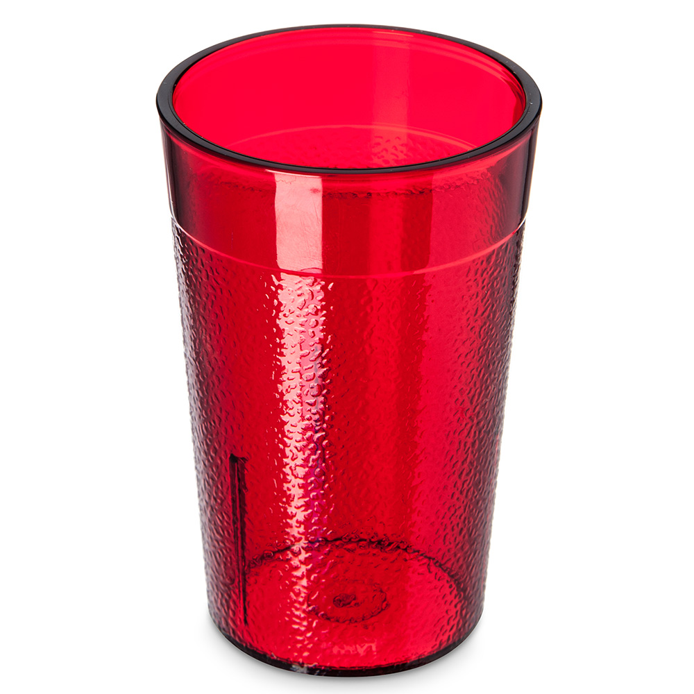Carlisle 550110 Stackable Tumbler, 5 oz., SAN, Ruby