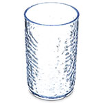 Carlisle 550907 Pebble Optic Tumbler, 8 oz., SAN, Clear