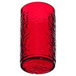 Carlisle 551210 12-oz Pebbled Tumbler - Plastic, Ruby