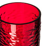Carlisle 551210 12-oz Pebbled Tumbler - Plastic, Ruby