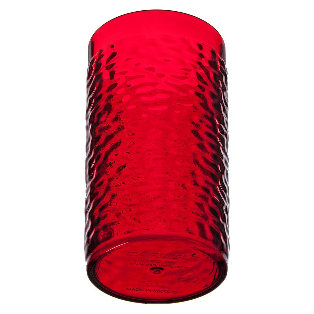 Carlisle 551710 16-oz Break-Resistant Tumbler w/ Pebbled Exterior, Ruby