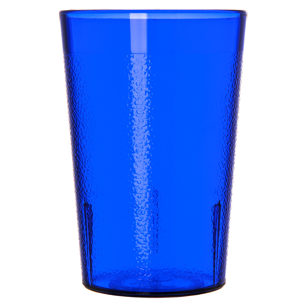 Carlisle 552647 8-oz Stackable Tumbler - Plastic, Royal Blue