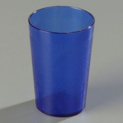 Carlisle 552654 8-oz Stackable Tumbler - SAN, Blue