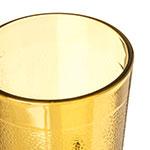 Carlisle 552613 8-oz Stackable Tumbler w/ Textured Exterior, Amber