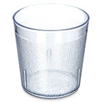 Carlisle 552907 9-oz Stackable Tumbler - Plastic, Clear
