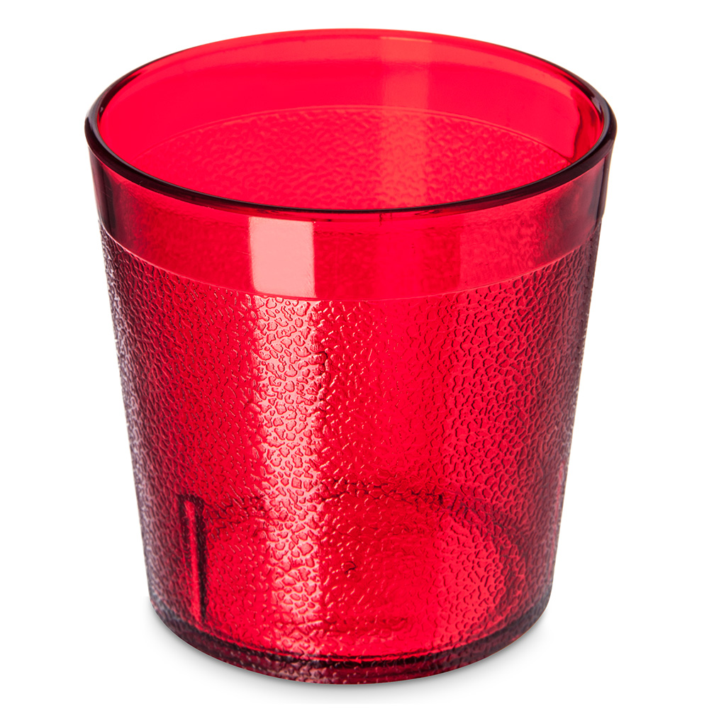 Carlisle 552910 9-oz Stackable Old Fashion Tumbler - Ruby