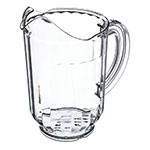 Carlisle 554407 60-oz Window Pitcher - Polycarbonate, Clear