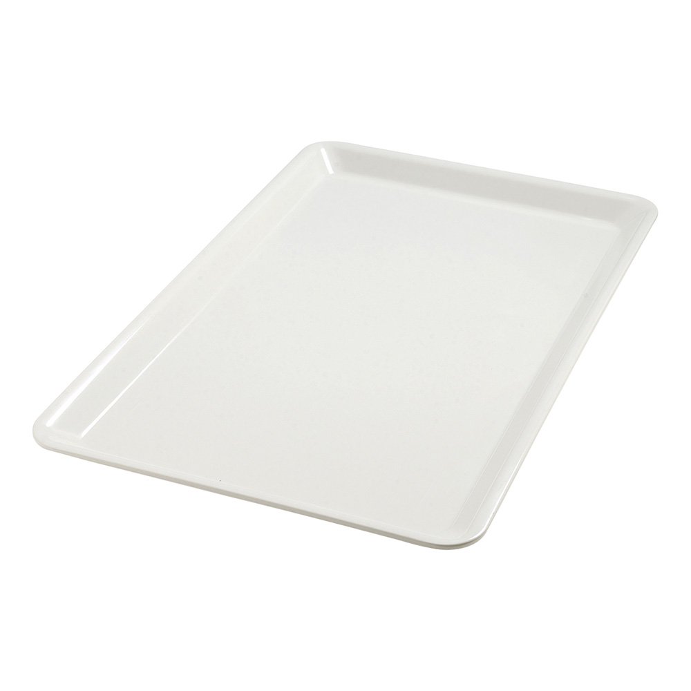 "Carlisle 5552037 Full-Size Balsam Displayware Pan - 1"" D, Melamine Bavarian Cream"