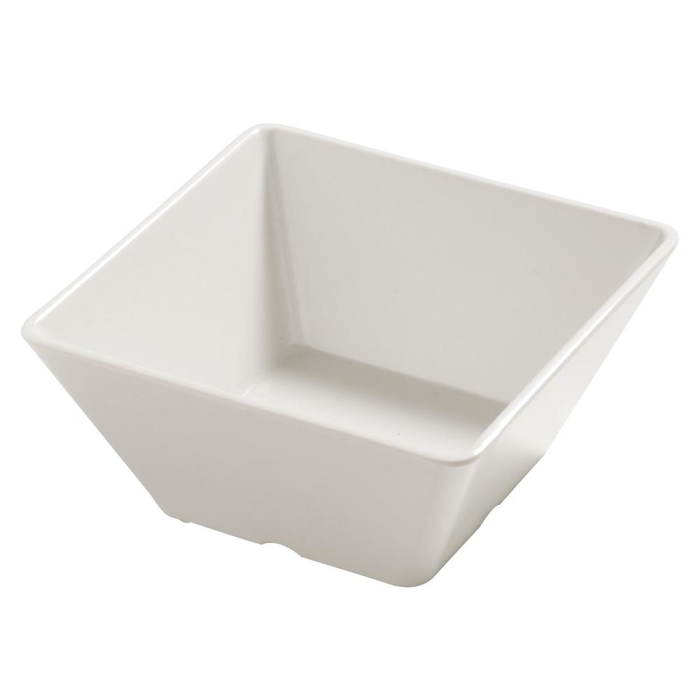 """Carlisle 5555037 5.875"""" Square Bowl w/ 26-oz Capacity, Melamine, Bavarian Cream"""