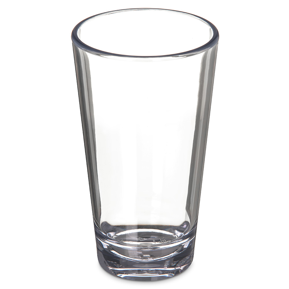 Carlisle 561607 16-oz Alibi Pint/Mixing Glass - SAN, Clear