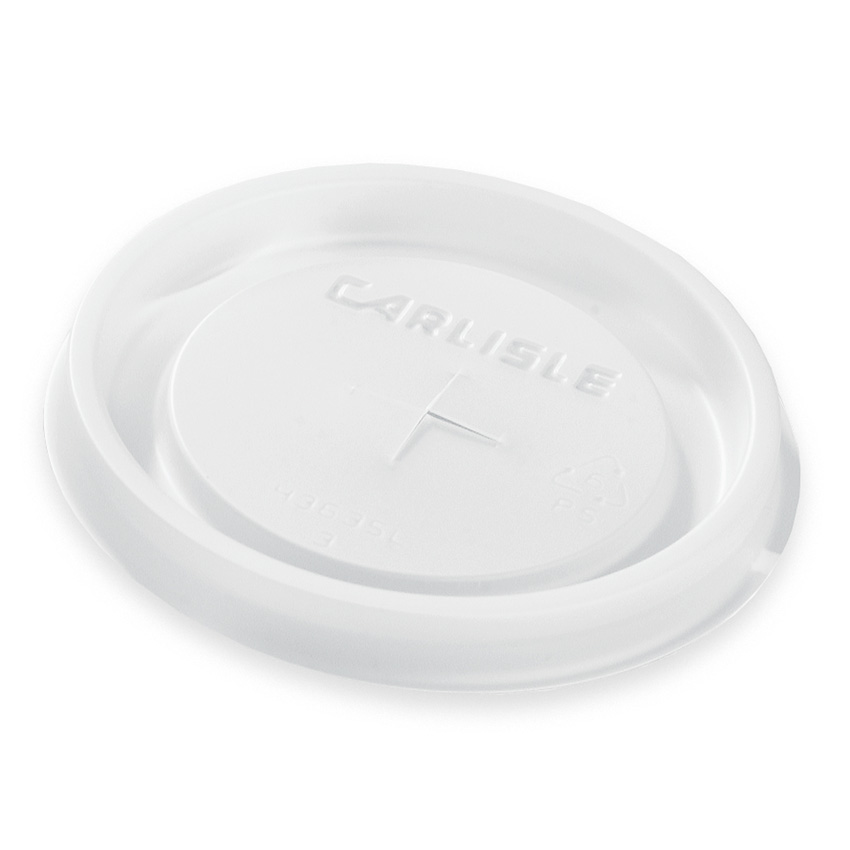 Carlisle 5822L30 22-oz Disposable Louis Tumbler Lid - (1,000/Case) Translucent