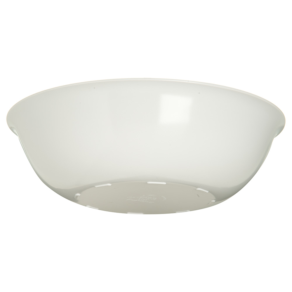 "Carlisle 593302 8.25"" Round Vegetable Bowl w/ 32-oz Capacity, Melamine, White"