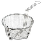 "Carlisle 601000 8.75"" Round Fryer Basket, Nickel Plated"