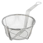 "Carlisle 601002 11.5"" Round Fryer Basket, Nickel Plated"