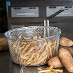 "Carlisle 601002 11.5"" Round Fryer Basket, Nickel Plated"