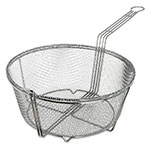 "Carlisle 601003 13.5"" Round Fryer Basket, Nickel Plated"