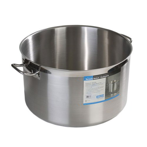 Carlisle 601164 60-qt Stock Pot -18/10 Stainless