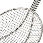 "Carlisle 601526 6"" Round Mesh Skimmer - Chrome Plated Nickel Steel"