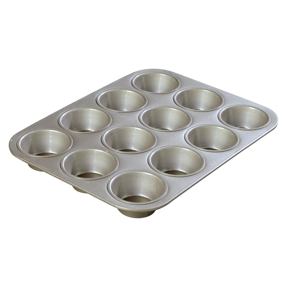 Carlisle 601830 3-1/2-oz Cupcake Pan - 12-Cup, Aluminized Steel