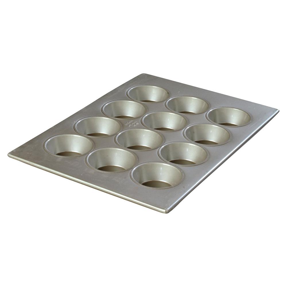 Carlisle 601834 12-cup Cupcake Pan - 4-oz, Aluminized Steel