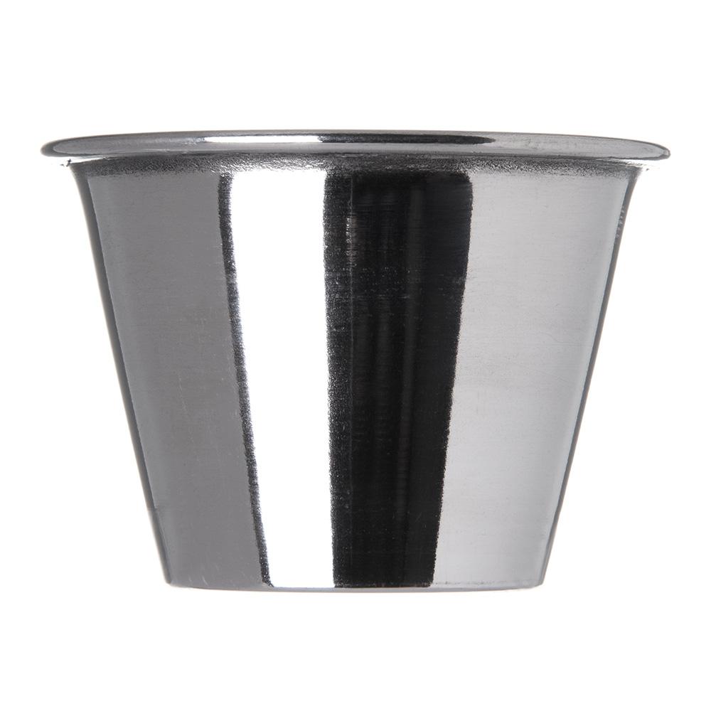 "Carlisle 602500 2.33"" Round Sauce Cup w/ 2.5-oz Capacity, Stainless"