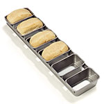Carlisle 606902 Mini Loaf Pan - 6-Loaves, Aluminized Steel