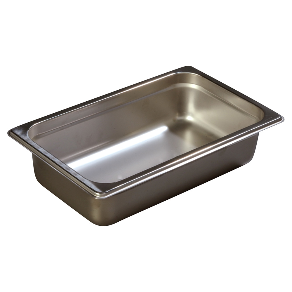 Carlisle 607142 Fourth-Size Steam Pan, Stainless