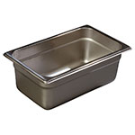 Carlisle 607144 Fourth-Size Steam Pan, Stainless